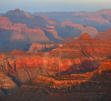 Grand Canyon Sunset Panorama by Stephen Vecchiotti