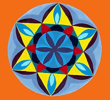 Blue and Yellow Mandala by Suzie Frischmann