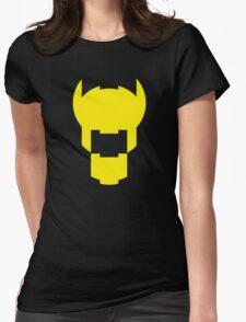 Batman Design Yellow Womens Fitted T-Shirt