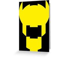 Batman Design Yellow Greeting Card