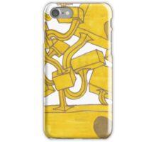Yellow 3D Blocks by Seth Cummins iPhone Case/Skin