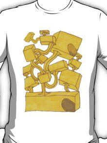 Yellow 3D Blocks by Seth Cummins T-Shirt