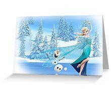 Olaf and Elsa Greeting Card