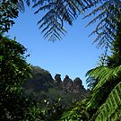 """""""The Three Sisters"""", Katoomba - Viewed from the Jamison Valley  by Marilyn Harris"""