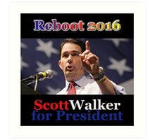 Scott Walker for President 2016 Art Print