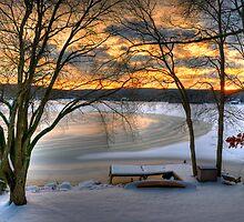 Andover Lake Winter by Roger Maynard