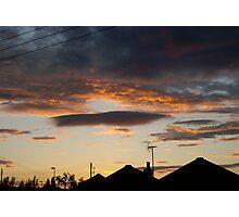 Sunset Silhouette 2 Photographic Print