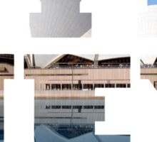 SYDNEY - text with opera house picture Sticker