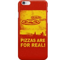 Pizzas are for real! ...Fast flying pizzas iPhone Case/Skin