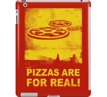 Pizzas are for real! ...Fast flying pizzas iPad Case/Skin