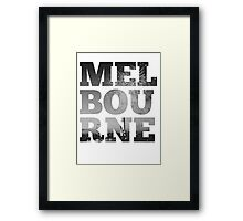 MELBOURNE - text with Bolte Bridge Picture Framed Print
