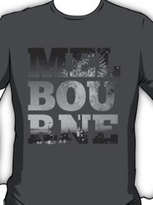 MELBOURNE - text with Bolte Bridge Picture T-Shirt