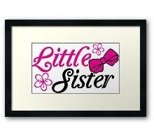 Little sister Framed Print