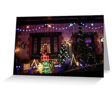 Lobethal Christmas Lights,S.A. Greeting Card