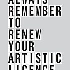 LICENCE RENEWAL by Steve Leadbeater
