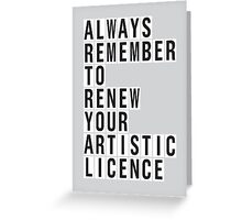 LICENCE RENEWAL Greeting Card