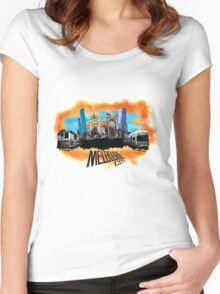 Melbourne City- City Collage Women's Fitted Scoop T-Shirt