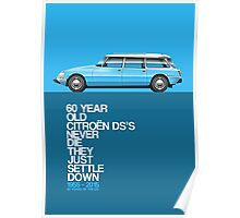 Citroen DS Safari / Break 60th anniversary Poster