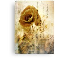 Memories and time Canvas Print