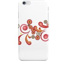 Red Whirl iPhone Case/Skin