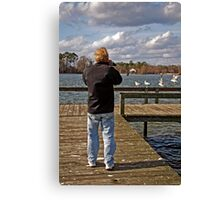 Out taking pictures  Canvas Print