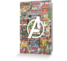 Comic - Avengers Greeting Card