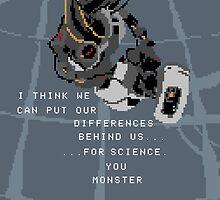 Pixel Glados by Minette Wasserman