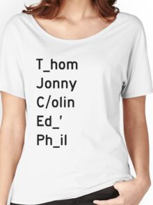 Thom, Jonny, Colin, Ed, and Phil - Radiohead Women's Relaxed Fit T-Shirt