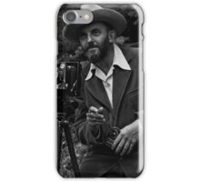Photographic portrait of nature photographer Ansel Adams — which first appeared in the 1950 Yosemite Field School yearbook. iPhone Case/Skin