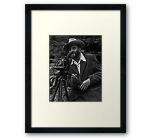 Photographic portrait of nature photographer Ansel Adams — which first appeared in the 1950 Yosemite Field School yearbook. Framed Print