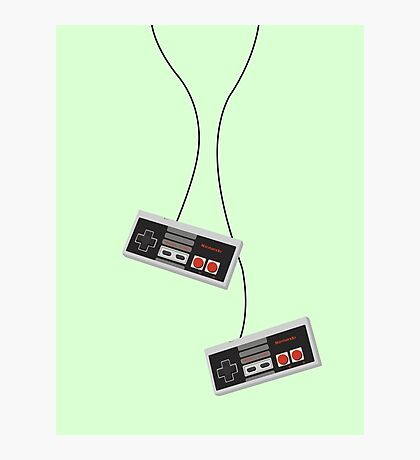 2 Players Nintendo Joystick Photographic Print