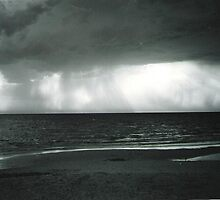 Storm over Seaford Beach by LaurenMovric