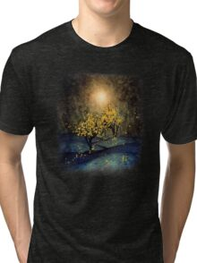 Yellow Autumn Tri-blend T-Shirt