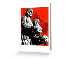 Stone Men Of Helsinki Greeting Card