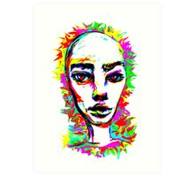 Psychedelic-Pop; Miss Prabrah Brows Art Print
