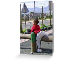 View from the Church Playground * Greeting Card