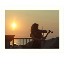 Serenade at Sunset Art Print