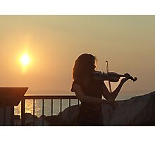 Serenade at Sunset Photographic Print