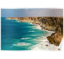 Bunda Cliffs - Nullarbor Plain, South Australia Poster