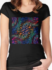 Abstract background 19 Women's Fitted Scoop T-Shirt