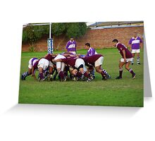 Rugby Game in Action Greeting Card