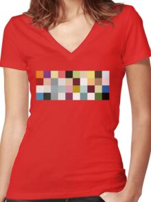 Look Closely... Women's Fitted V-Neck T-Shirt