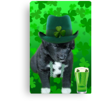 ♥‿♥ DO U EVER FEEL AFTER A FEW DRINKS YOUR SEEING WAY TOO MANY SHAMROCKS?? ♥‿♥ Canvas Print