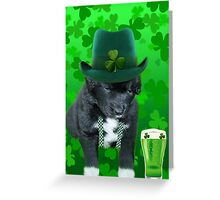 ♥‿♥ DO U EVER FEEL AFTER A FEW DRINKS YOUR SEEING WAY TOO MANY SHAMROCKS?? ♥‿♥ Greeting Card