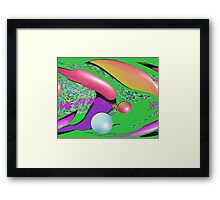 PIng Pongin Space Framed Print