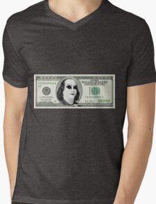 Gothic Banknote Parody Mens V-Neck T-Shirt
