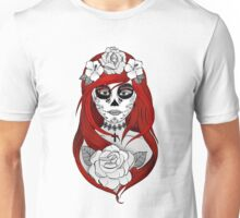 Santa Muerte Red hair Unisex T-Shirt