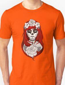 Santa Muerte Red hair Unisex T-Shirt