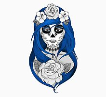 Santa Muerte Blue hair Unisex T-Shirt