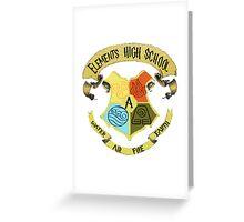 Elements High School Greeting Card